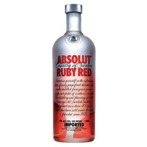 ABSOLUT RUBY RED 1 LITRO